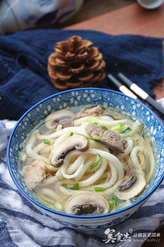 清淡而美食受伤的青蟹乌冬汤-瘦肉杰-美食,菜软组织丰富能吃营养图片