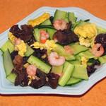 杰米田园翡翠鲜虾炒蛋的做法
