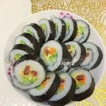 樱花可可金枪鱼紫菜包饭的做法