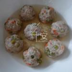 松籽儿玉米蔬菜肉丸的做法