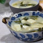 youhaha0的厨房日式豆腐海带味噌汤的做法
