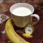 缡雨酱~香蕉牛奶的做法