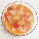 莉娜。番茄炒冬瓜的做法