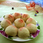 食·色寿桃的做法