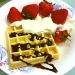 柠檬1085174草莓奶油华夫饼的做法