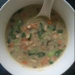 小葵爱做饭蘑菇菜丝燕麦粥的做法