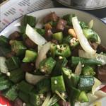 美食家里的小吃货蒜香秋葵炒牛肉的做法