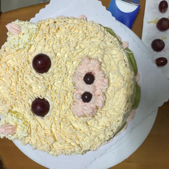 萌猪头生日蛋糕
