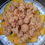 孔静(来自腾讯..)南瓜蒸肉的做法