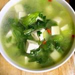 飘飞的羽毛小白菜炖豆腐的做法
