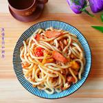 度娘菜园和厨房肉酱油泼辣子拌面#美的微波炉#的做法