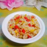 度娘菜园和厨房香肠蛋炒饭的做法