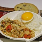 兔兔千儿香菇虾仁滑蛋烩饭的做法