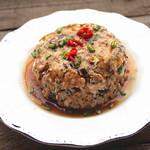 甜盐蜜语肉末蒸豆腐的做法