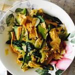 大蘑菇阿喂腐竹炒黄瓜的做法