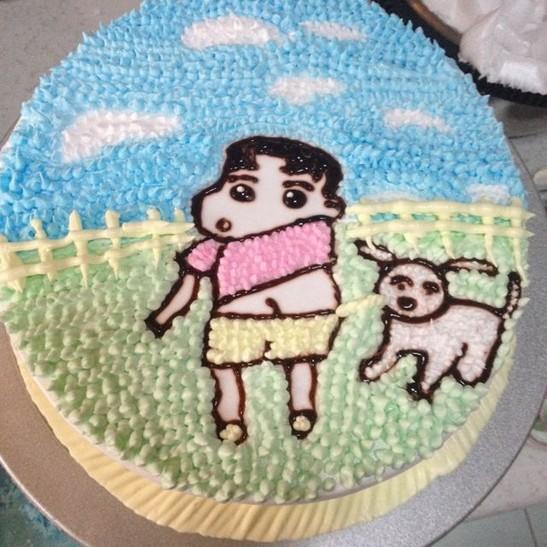 -卡通手绘生日蛋糕