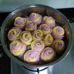 米老鼠6647紫薯玫瑰花馒头的做法
