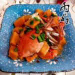 雨润海棠豉汁排骨蒸南瓜的做法