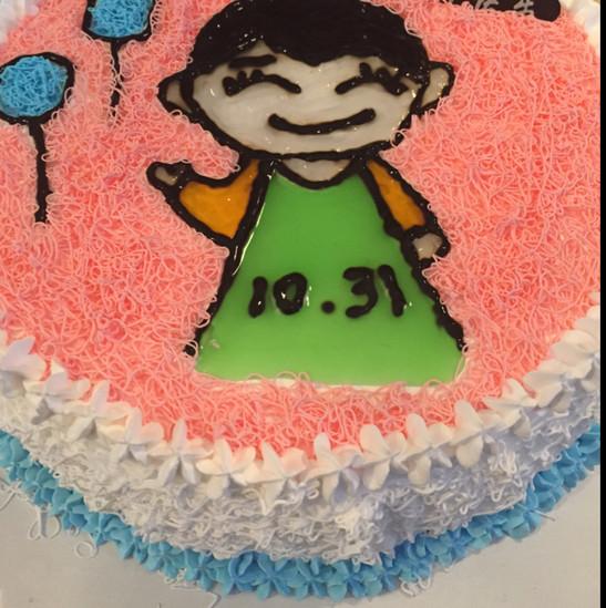 卡通手绘生日蛋糕