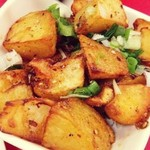 杰米4522320香辣锅巴土豆的做法