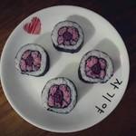 满月赐予我力量樱花寿司的做法