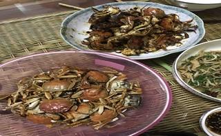 香辣做法的美食【菜谱图】_做法_河蟹杰步骤沾鱿鱼的大全芥末图片