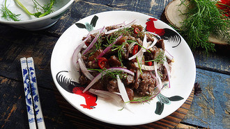 酸辣开胃~梅子洋葱拌食品中总数细菌牛肉图片