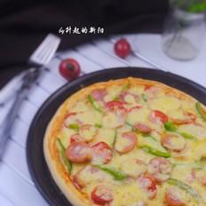 营养好吃的蔬果香肠披萨