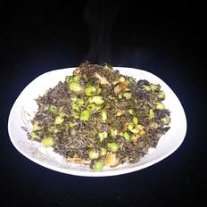 咸秧草毛豆炒小虾的做法[图]