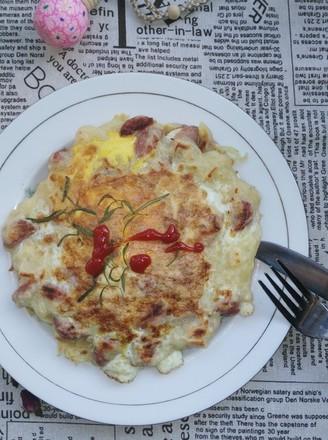 百变土豆之土豆太阳蛋饼的做法