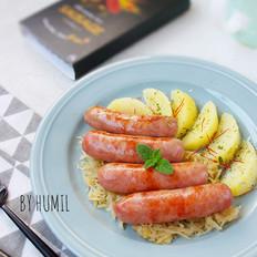 秘制香肠佐马铃薯酸菜——传统德式口味