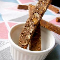 可可坚果意式脆饼Biscotti【低脂烘焙食谱】