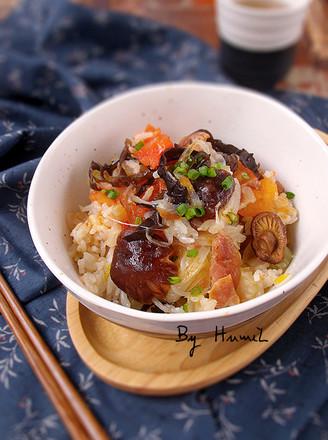 番茄香菇焖饭的做法