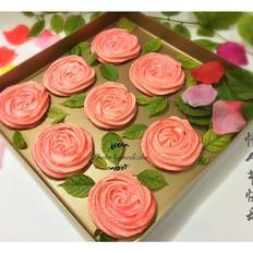 情人节--玫瑰马琳饼干