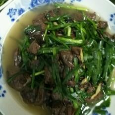猪红浸韭菜的做法[图]