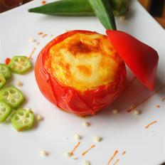 西红柿焗蛋羹