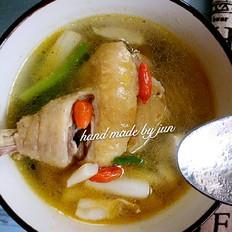 双菇鸡腿汤