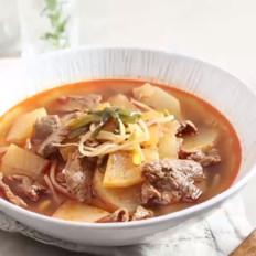 韩式辣牛肉白萝卜汤