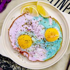 变色鸡蛋   太阳猫早餐