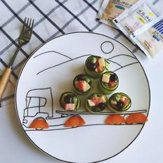 黄瓜卷蔬果沙拉#丘比千岛酱#