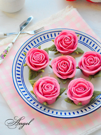 玫瑰花月饼的做法