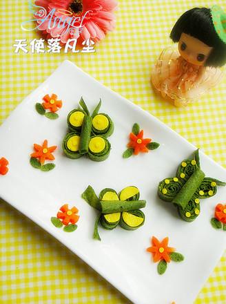 打印蝴蝶蔬菜蛋饼的做法(美食杰)