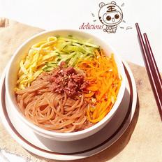 香辣牛肉荞麦拌面的做法[图]