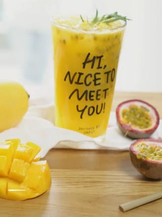 百香芒果汁的做法