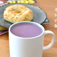 梦幻香芋紫薯热奶昔|约翰的小厨房