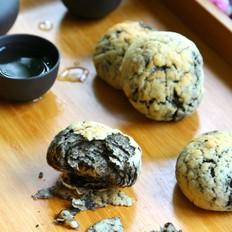 黑芝麻酱豆渣酥饼的做法[图]