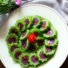 冰镇凉瓜酿紫薯#美的智能冰箱#