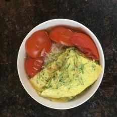 西红柿松柳鸡蛋粉