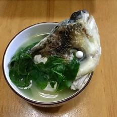 枸杞叶鱼头汤