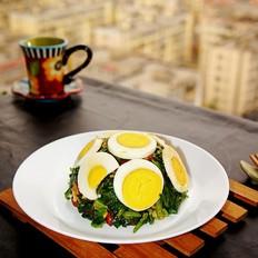麻将菠菜拌鸡蛋#早餐#